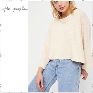 Free People I Can't Wait Oversized Cream Sweater L